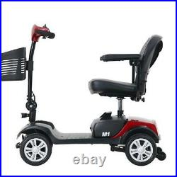 Foldable 4 wheels Electric Wheelchair Powered Mobility Scooter Compact Device US
