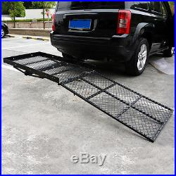 Foldable Electric Wheelchair Hitch Carrier Mobility Scooter Fold Loading Ramp Go