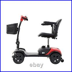 Foldable TRAVEL Electric 4 wheels Mobility Scooter Power Wheel chair Lightweight