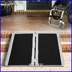Folding Aluminum Wheelchair Ramp Portable Mobility Scooter Carrier 600lbs
