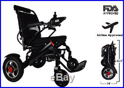 Folding Lightweight Electric Power Wheelchair Medical Mobility Aid Motorized
