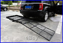 Folding Strong Electric Wheelchair Hitch Carrier Mobility Scooter Loading Ramp B