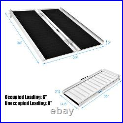 Goplus Portable Aluminum Non-skid 3' Wheelchair Ramp Mobility Scooter Carrier