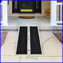 Goplus Portable Aluminum Non-skid 5' Wheelchair Ramp Mobility Scooter Carrier