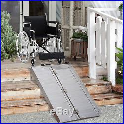 HOMCOM 4ft Wheelchair Ramp Foldable Portable Scooter Mobility Easy Access