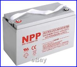 HR12390W 12V 120Ah Deep Cycle AGM Battery, Scooter Mobility Wheelchair Battery