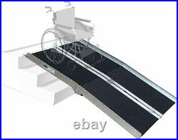 Hapelo Updated Single Fold Non-Skid Aluminum Scooter Mobility Wheelchair Ramp 8