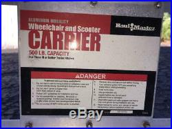 Haul Master Aluminum 500lb Capacity Mobility Scooter Wheelchair Carrier & Ramp