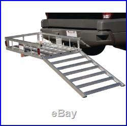 Hitch Cargo Carrier 500 lbs Capacity Mobility Scooter Wheelchair Carrier with Ramp