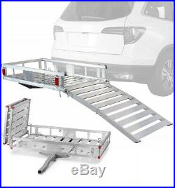 Hitch Mobility Foldable Sturdy Carrier Rack Ramp Wheelchair Heavy Duty Scooter