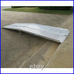 Hot 10ft Folding Aluminum Wheelchair Ramp Portable Mobility Scooter Carrier NEW