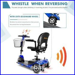 Innuovo Mobility Lightweight Compact 3-Wheel Electric Wheelchair Scooter Blue
