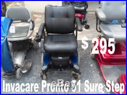 Invacare Pronto M51 Sure Step Power Wheelchair Mobility Chair Scooter In Nj