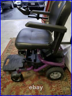 LITERIDER Golden Envy GP162 Electric Travel Power chair PURPLE Mobility Scooter