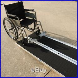 Lightweight 6'Loading Folding Wheelchair Scooter Mobility Ramp Non-Slip Black US