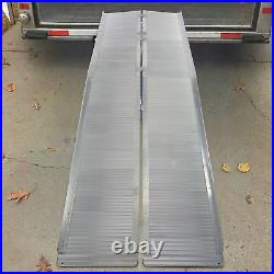Livebest Wheelchair Ramps 10 FT Folding Anti-Slip Mobility Scooter Threshold