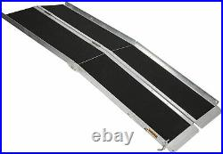 Lonabr 6FT Portable Wheelchair Ramp Folding Threshold Stairs Mobility Scooter