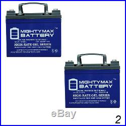 Mighty Max 2 Pack 12V 35AH GEL Battery for Medical Mobility Scooter Wheelchair