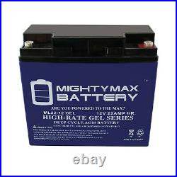 Mighty Max 4 Pack 12V 22AH GEL Battery for EW72 Mobility Scooter Wheelchair