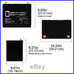 Mighty Max ML75-12 12V 75AH Battery for Scooter Wheelchair Mobility Battery