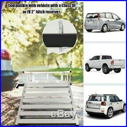 Mobility Cargo Carrier Hitch-Mounted 50x29.5 Wheelchair Scooter Ramp Folding