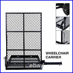 Mobility Carrier Wheelchair Scooter Mobility With Ramp & Spring Loaded Pull Locks