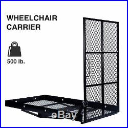 Mobility Carrier Wheelchair Scooter Rack Disability Medical Ramp Hitch Mount