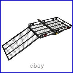Mobility Carrier Wheelchair Scooter Rack Foldable Disability Medical Ramp 500lbs