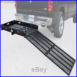 Mobility Carrier With Ramp Folding Steel Scooter Hitch Rear Rack Wheelchair NEW