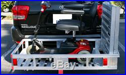 Mobility Foldable Cargo Carrier Hitch Rack Ramps Wheelchair Scooter Heavy Duty