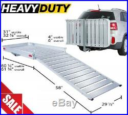 Mobility Foldable Carrier Hitch XXLarge Rack Ramp Wheelchair Scooter Heavy Duty