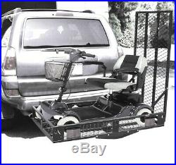 Mobility Foldable Hitch Carrier Wheelchair Mobility Scooter Large Rack Easy Ramp