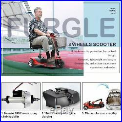 NEW 3-Wheel Mobility Scooter Electric Powered Mobile Wheelchair Device Folding