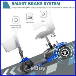 NEW 3-Wheel Mobility Scooter Electric Powered Mobile Wheelchair Folding Blue