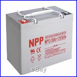 NPP 12V 55Ah Deep Cycle Rechargeable Battery For Scooter Wheelchair, Mobility