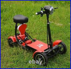 New Foldable Perfect 4 wheels Mobility Scooter electric Wheel chair Lightweight