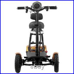 New Folding Electric Powered Mobility Scooter 4 Wheel Travel Elderly Scooter