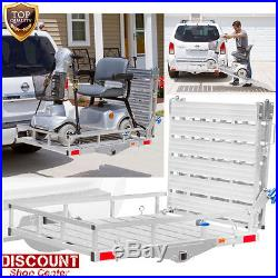 New Mobility Foldable Carrier Lift Hitch Rack Heavy Duty Ramp Wheelchair Scooter