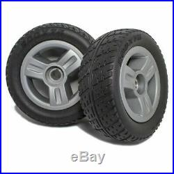 PAIR Pride Mobility GO-GO Scooter Rear Wheels Tire Silver Mag Rim 8x2.50