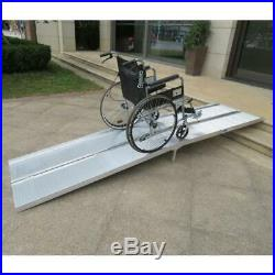 Portable 10ft Folding Wheelchair Scooter Mobility Ramp Aluminum Non-Slip NEW