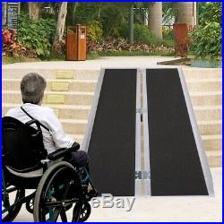 Portable 6' Aluminum Wheelchair Ramp Mobility Non-slip Scooter Carrier, Multifold