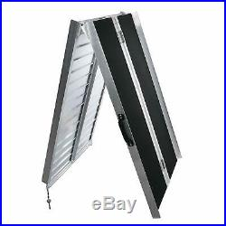 Portable Aluminum 7' Multifold Wheelchair Ramp Non-skid Mobility Scooter Carrier