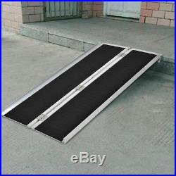 Portable Aluminum Non-skid 5' Wheelchair Ramp Mobility Scooter Carrier
