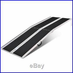 Portable Aluminum Non-skid 7' Multifold Wheelchair Ramp Mobility Scooter Carrier