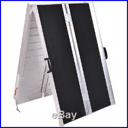 Portable Aluminum Non-skid 8' Multifold Wheelchair Ramp Mobility Scooter Carrier