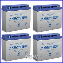 Power-Sonic 4 Pack 12V 18Ah Wheelchair Mobility Scooter Battery Replaces 17Ah