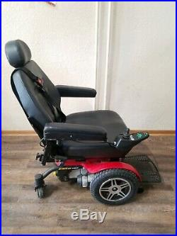Pride Mobility Jazzy Elite HD Power Wheelchair Chair Motorized Scooter Red 450lb