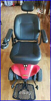 Pride Mobility Jazzy Elite Power Wheelchair Chair Motorized Scooter Red