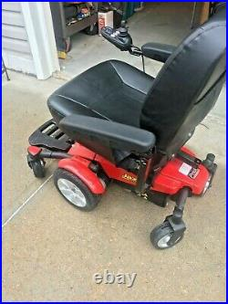 Pride Mobility Jazzy Select Gt Electric Power Wheelchair Red Black Leather Seat