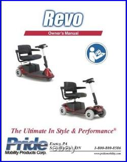 Pride REVO 3-Wheel Mobility Scooter Great Working Order! 300lb Weight Limit